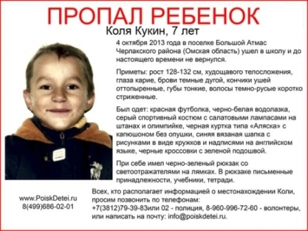 Волонтеры разыскивают Колю Кукина