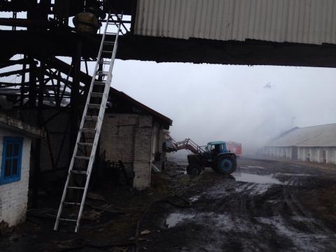 В Омской области сгорел ангар с тоннами зерна