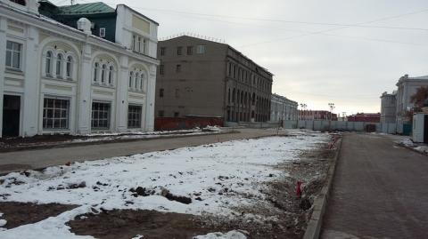 На улице Музейной для омичей сделали пешеходные дорожки