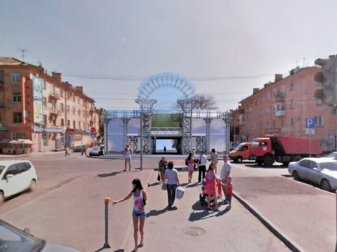 У входа в Советский парк Омска собираются построить двухэтажный торговый центр