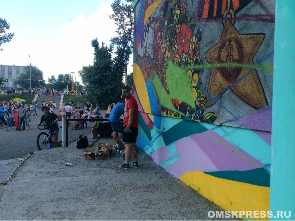 В День города омичи танцевали хип-хоп и рисовали граффити