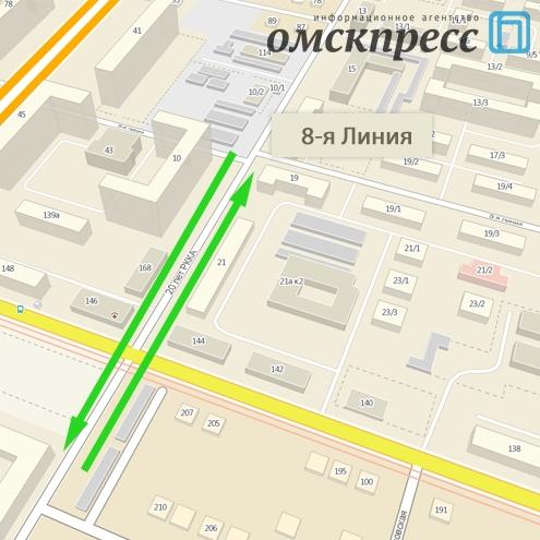 Улицу 20 лет РККА сделали почти полностью двусторонней