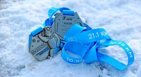 Шапку, варежки и медаль получат участники Рождественского полумарафона