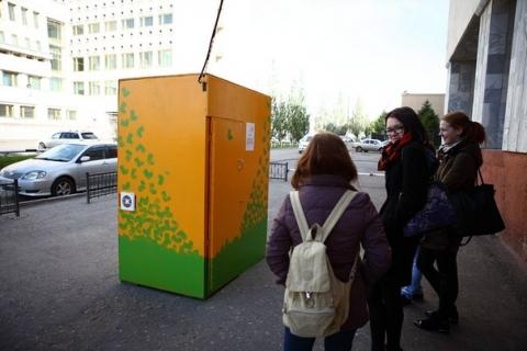 В самом центре Омска можно спрятаться от городской суеты в будке