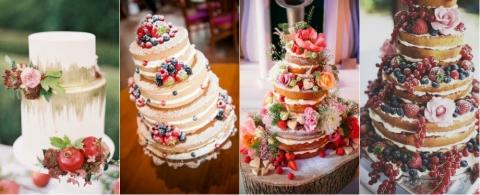 Свадебные торты с фруктами и ягодами