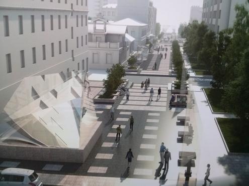 Улицу Валиханова реконструируют в стиле петербургских мостовых