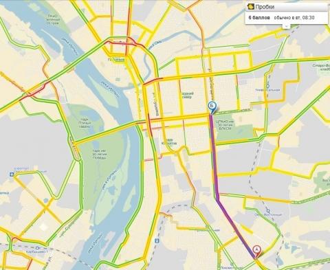Омские дороги отметили 1 апреля нешуточными пробками