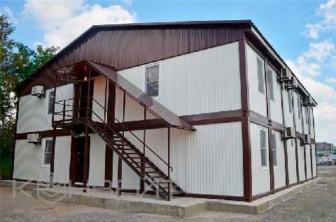 Готовое здание модульной гостиницы КОНВЕЙТ