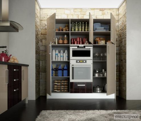 Кухня Alvic Luxe из пластика магнолия