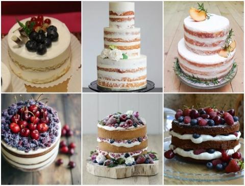 Голые свадебные торты