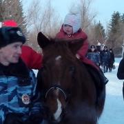 Омская конная полиция провела день открытых дверей