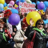 Омичи приняли активное участие в первомайской демонстрации