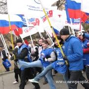 """В Омске """"единороссы"""" вывели бюджетников на митинг в поддержку Путина"""