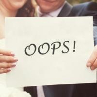 10 ошибок при организации свадьбы