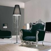 Напольный торшер как декоративный элемент интерьера