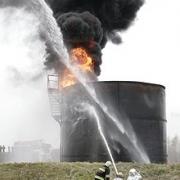 В Омске сегодня утром горел нефтезавод