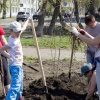 """Омичи приняли участие в акции """"Сквер – своими руками"""""""