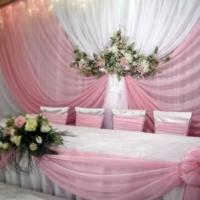 Красивое оформление свадебного банкета