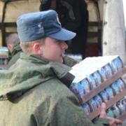 Омичи выдали продукты ликвидаторам ЧС на Дальнем Востоке