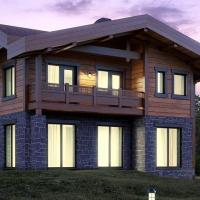 Проектирование комбинированных домов из камня и дерева