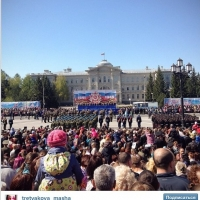 В Омске начался парад в честь дня Победы