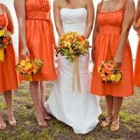 Свадьба в ярко-оранжевом цвете