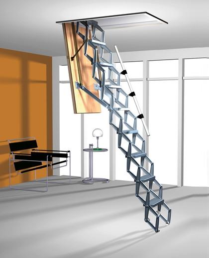 Алюминиевая чердачная лестница