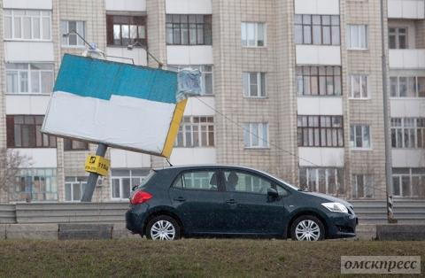 В Омске прошёл сильнейший шторм за последние десять лет
