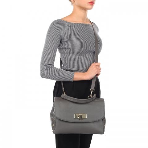 классическая серая сумка