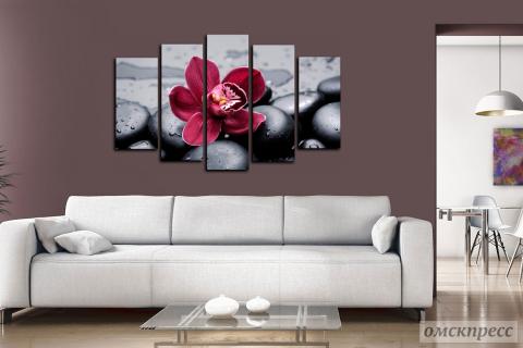 Модульные картины с орхидей