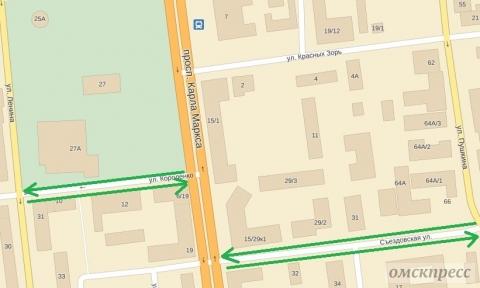 В центре Омска две односторонние улицы станут двусторонними