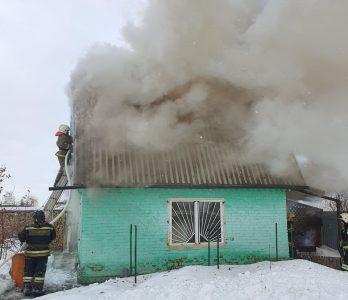 Омские спасатели за час потушили пожар на даче
