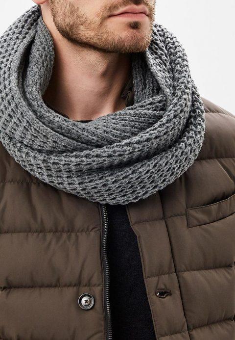 Мужские шарфы и снуды — стильные аксессуары от лучших брендов