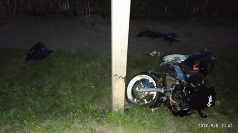 Мотоциклист врезался в столб в районе ул. Вокзальная