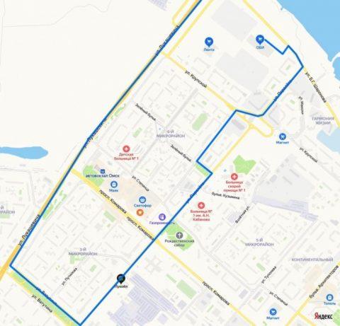 Временная схема движения маршрута 307