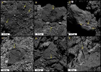 Камни на поверхности астероида Бенну  разрушает солнечный свет