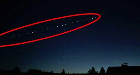 Омичи дважды могли видеть в небе космический поезд Илона Маска