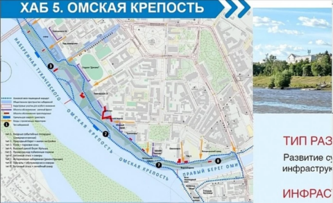 Эскизы будущей набережной в Омске опубликовали в соцсетях