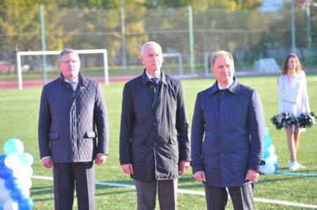 В Омске открыли современный легкоатлетический стадион