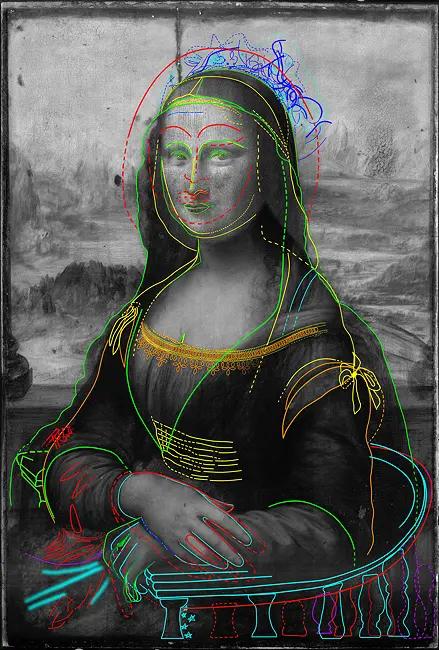 Под слоем краски Моны Лизы нашли еще один рисунок