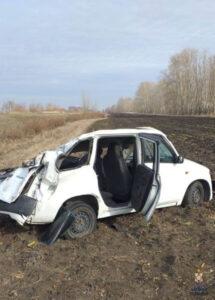 В Омской области произошла авария с участием угнанного автомобиля