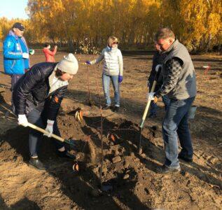 В Кировском округе Омска заложили новый сквер