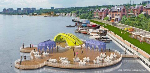 На новой Омской набережной появятся гостиница на воде, пешеходный мост через Обь, фонтаны и смотровые площадки