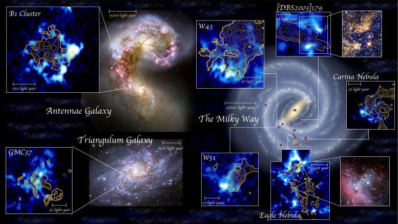 Звездообразование вызвано столкновениями газовых облаков в космосе
