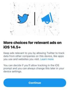 Twitter начал просить пользователей включить отслеживание рекламы