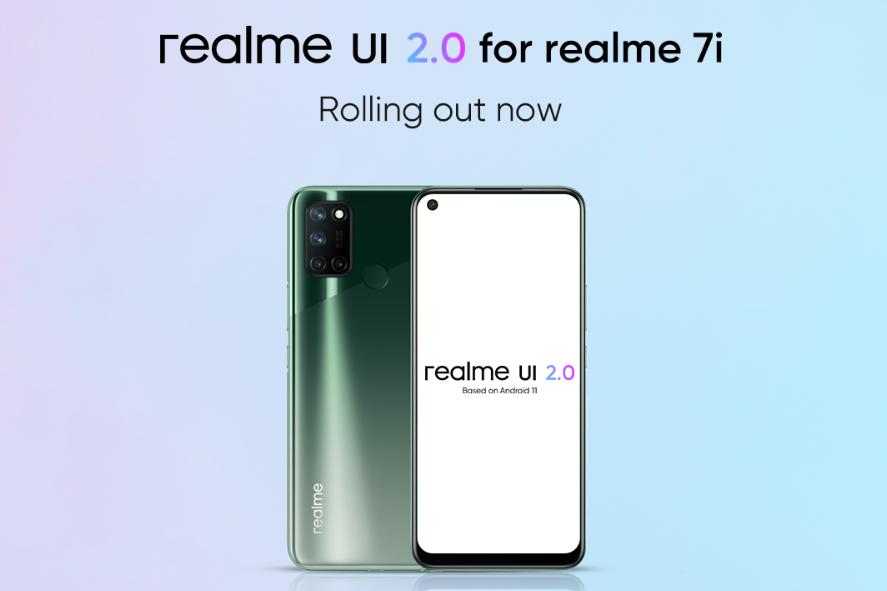 Realme 7i получил стабильное обновление Android 11 (Realme UI 2.0)
