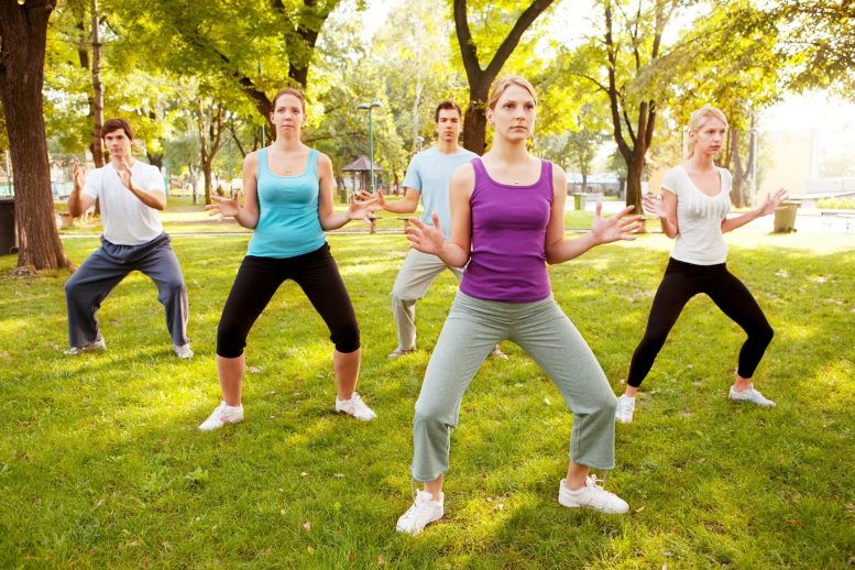 Исследование показало, что тайцзи похож на обычные упражнения для сжигания жира на животе