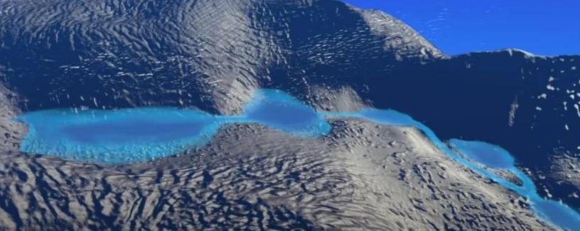 NASA обнаружила скрытые под льдом Антарктиды озера с талой водой