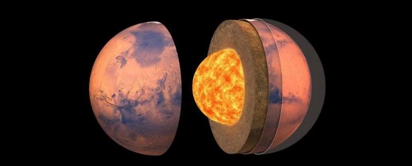 Впервые открыта подробная карта внутреннего строения Марса