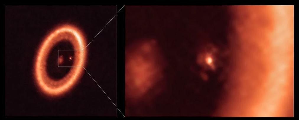 Астрономы стали свидетелями диска, образующего луну вокруг экзопланеты